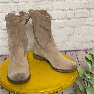 Naturalizer Basha tan suede slouch mid calf boots